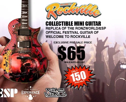 Rockville 2019 Limited-Edition RonzWorld Mini Guitar Replica Collectible