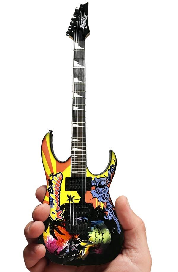 Rockville 2018 Limited-Edition RonzWorld Mini Guitar Replica Collectible