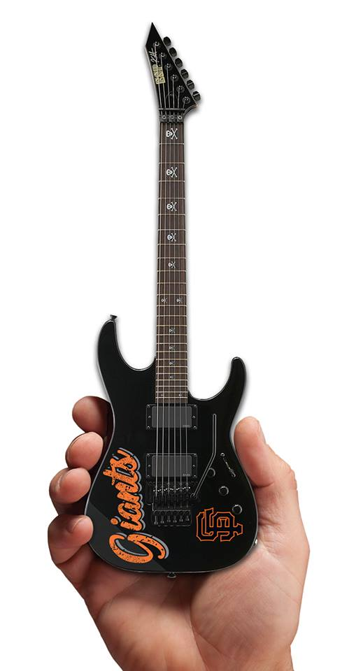 SF Giants 2019 Metallica Night Limited Edition & Numbered Kirk Hammett Mini Guitar Collectible