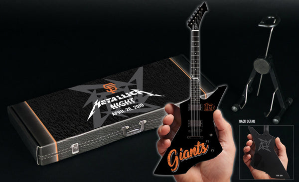 SF Giants 2019 Metallica Night Limited Edition & Numbered James Hetfield Mini Guitar Collectible