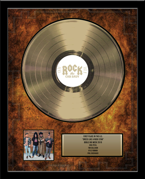 "12"" Gold Record - Deluxe Framed Rockstar Award - Metalized Gold Record"