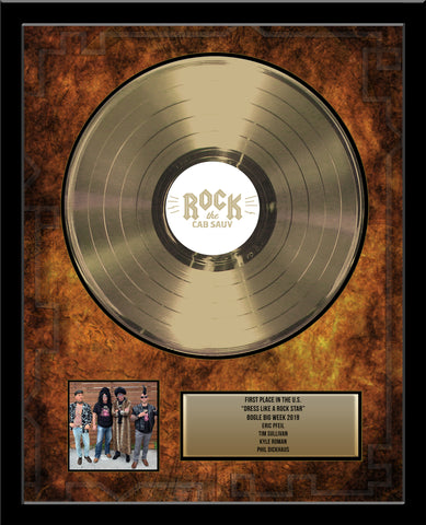 "18"" x 22"" Framed 12"" Gold Record - Deluxe Framed Rockstar Award - Metalized Gold Record"