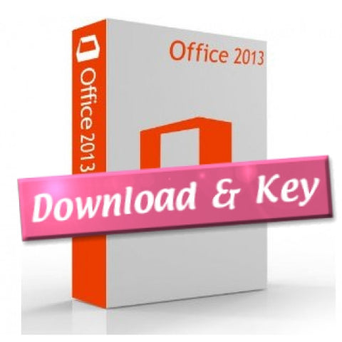 Microsoft Office 2013 Professional - 2 Pcs Download Version