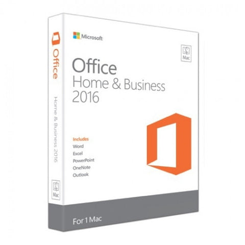 Office 2016 Home & Business For Mac - Download - 1 Machine