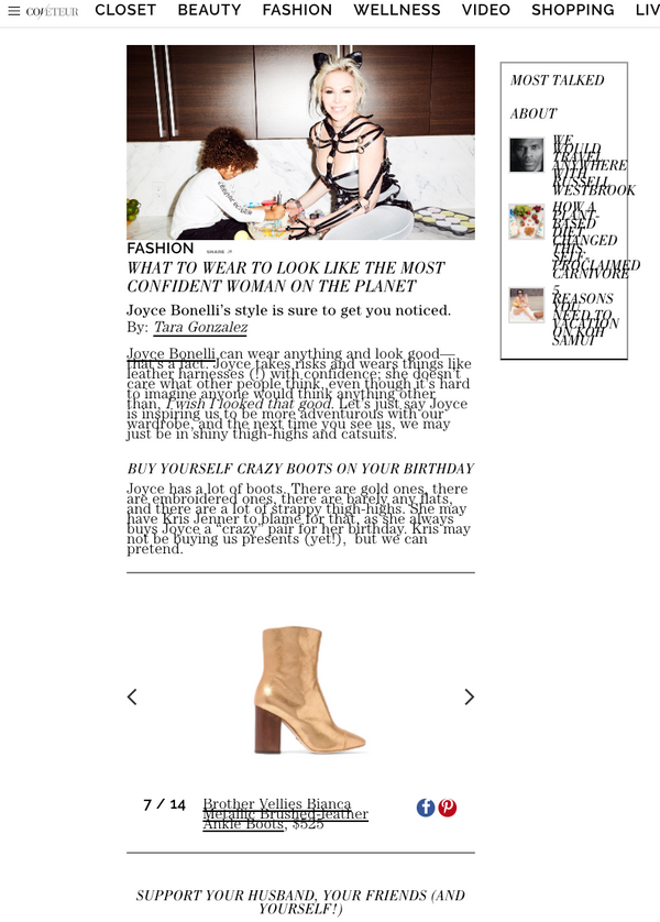 Coveteur Brother Vellies Bianca Gold Boot