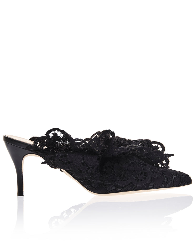 Stell Mule in Midnight Lagos Lace