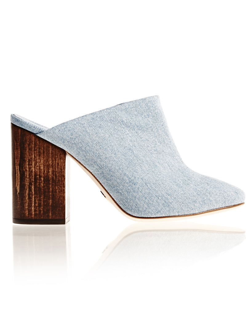Denim Bianca Mule