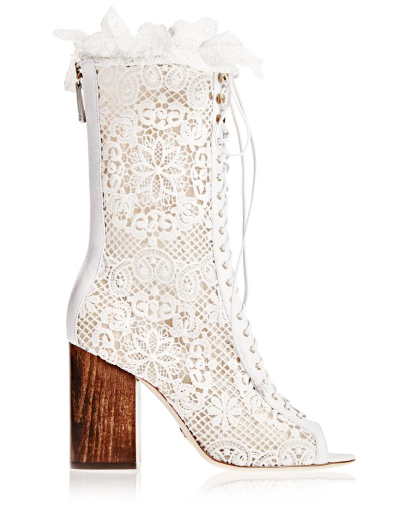 Lali Boot in White Lace