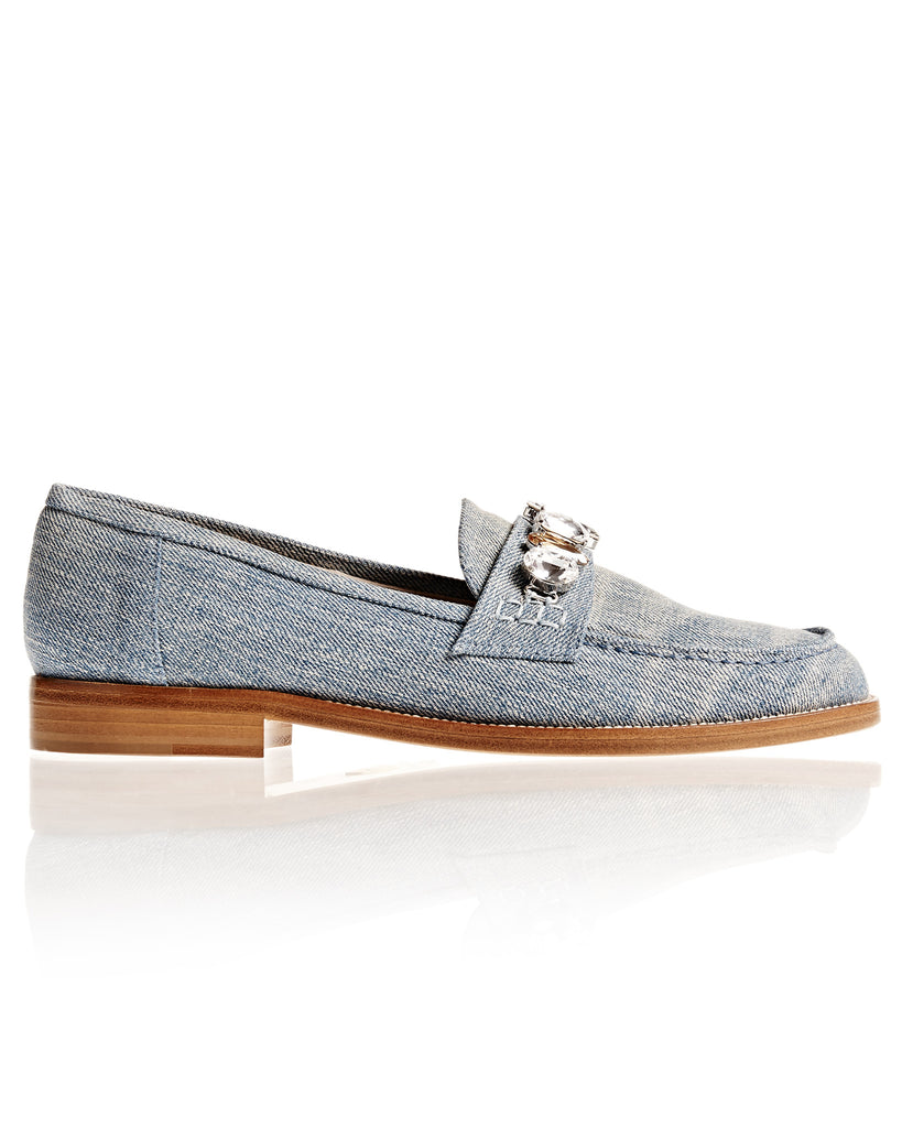Denim and Swarovski Loafer