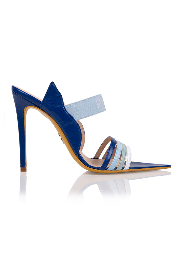 Brother Vellies by Pyer Moss Sandal in Blue