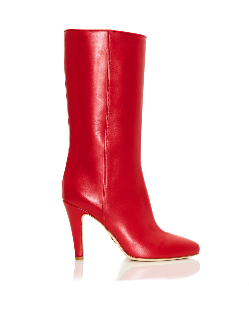 Red Leather Palms Boot