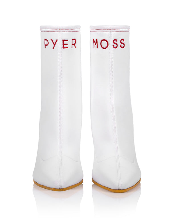 Brother Vellies by Pyer Moss Mamba Boot in White