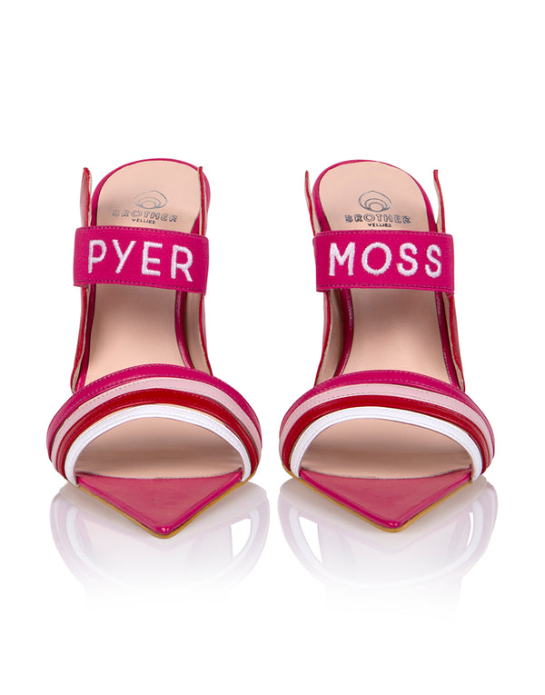 Brother Vellies by Pyer Moss Sandal in Berry
