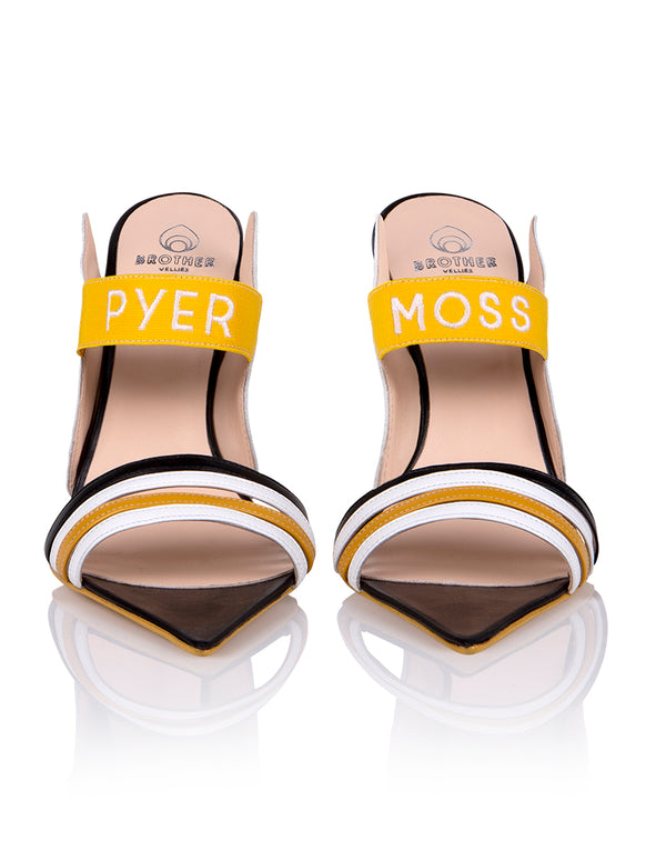 Brother Vellies by Pyer Moss Sandal in Black