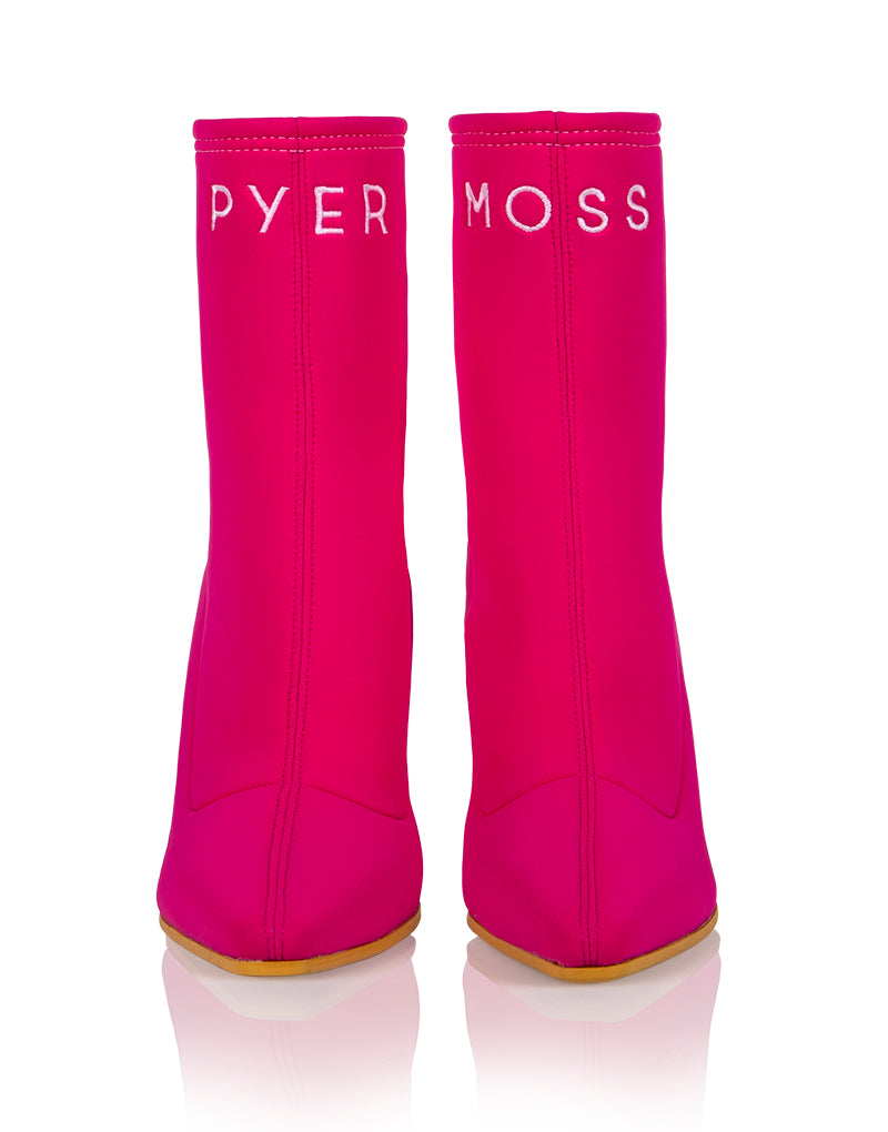 Pyer Moss x Brother Vellies Mamba Boot in Pink
