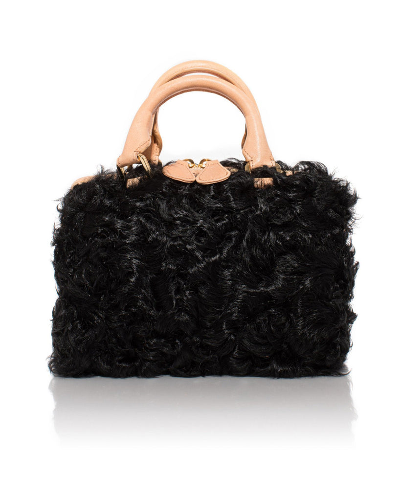 Black Curly Goat Mini Island Bag