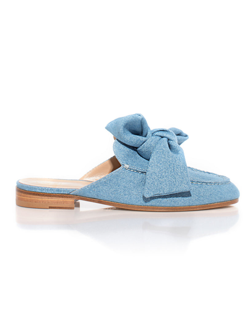 Open Loafer in Denim