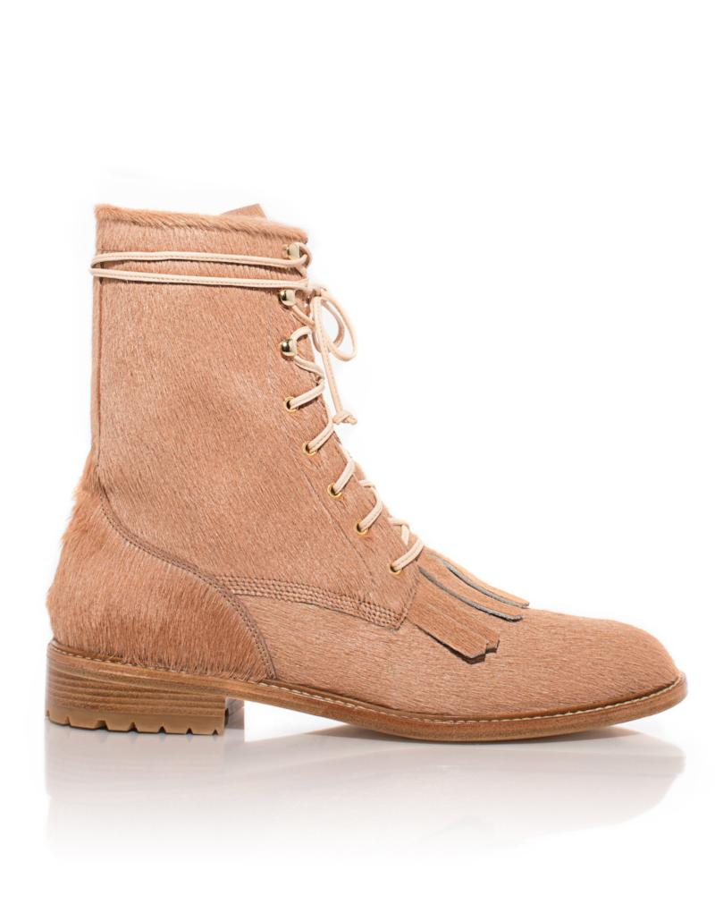 Unity Boot in Blush Calf Hair
