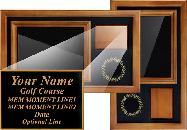 "Custom-Laser-Engraved-Plaque-for-Memorable-Moments-Ball-&-6""x8""-Scorecard-Display-My-Golf-Memories"