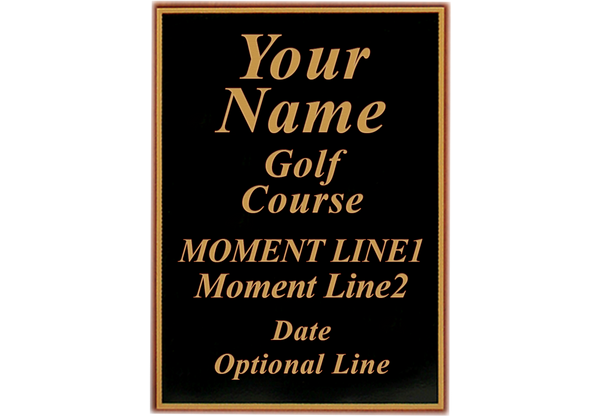 "Custom-Laser-Engraved-Plaque-for-Memorable-Moments-Ball-&-6""x8""-Scorecard-Display-My-Golf-Memories-Close-Up-2"