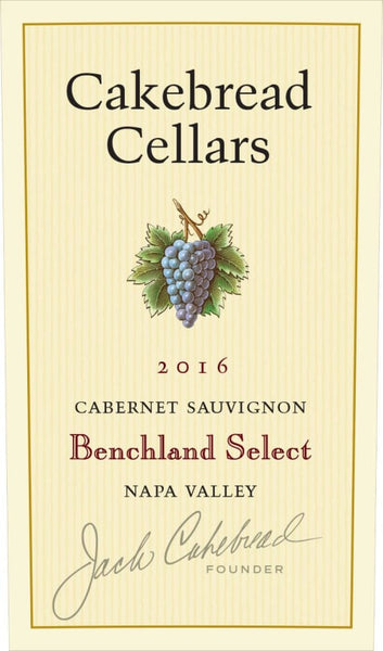 Cakebread Benchland Select Cab 2016