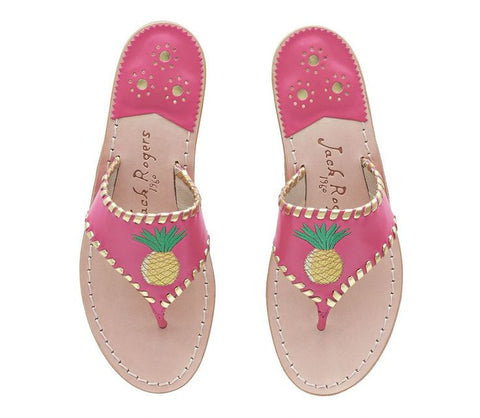 Exclusive Pineapple Bright Pink Sandal - trendva