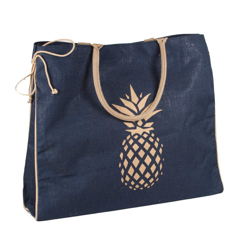 Pineapple Jute Shopper - trendva