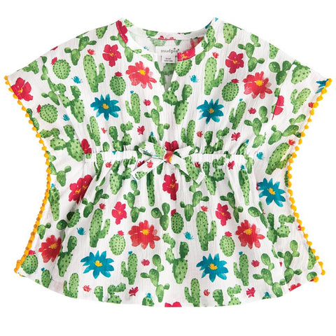 Mudpie Cactus Print Cover-Up (Children's) - trendva