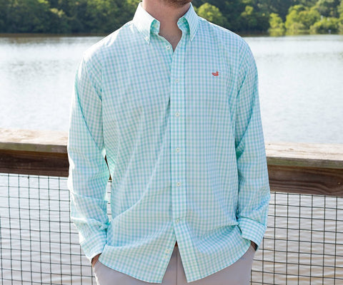Gingham Dress Shirt - trendva