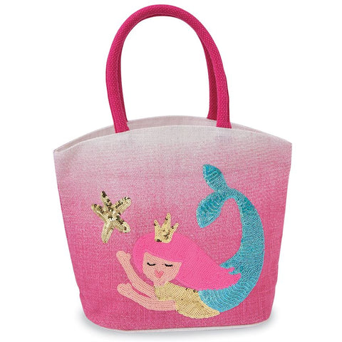 Sequin Mermaid Mini Tote Bag - trendva