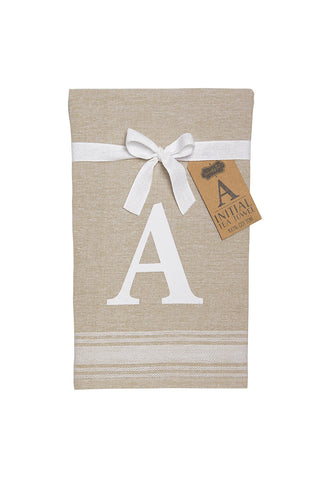 Embroidered Initial Towel