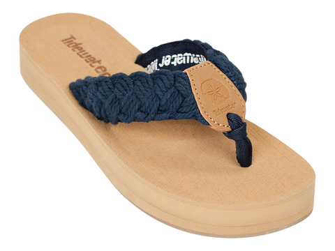 Braided Navy Sandal - trendva