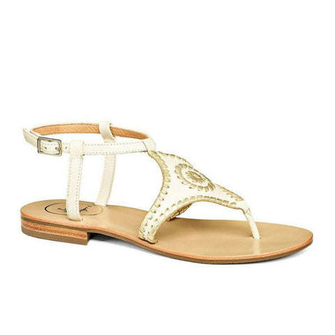 Maci Trimmed Leather Sandal - trendva