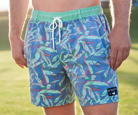 Patterned Swim Trunks - trendva