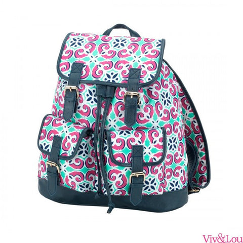 Mia Tile Campus Backpack - trendva
