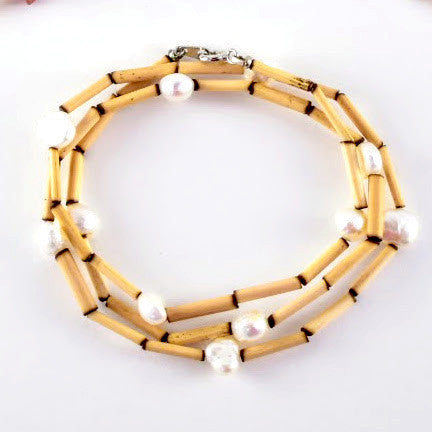 Bamboo wrap bracelet or necklace