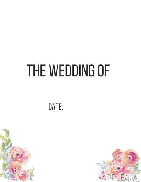 Wedding Binder Cover