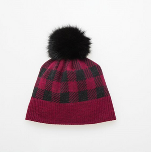 Canadian Hat Canada Plaid Pom Adult Beanie 2019