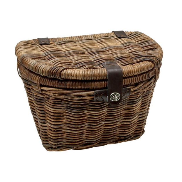Electra Rattan Woven Basket With Lid