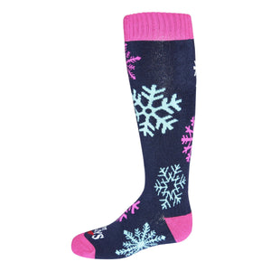 Hot Chillys Snowflake Youth Mid Volume Sock
