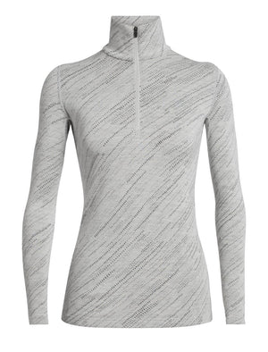 Icebreaker 250 Vertex Snow Storm Ladies LS Half Zip 2020