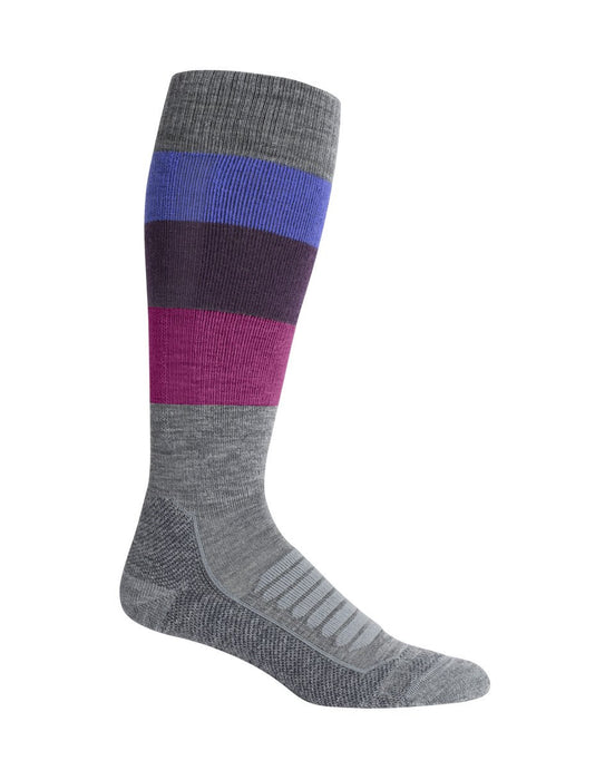 Icebreaker Ski+ Medium OTC Stripe Ladies Sock
