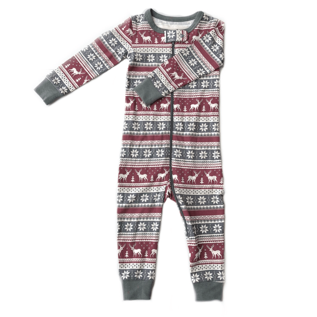 Lola & Taylor Fair Isle Fawn Infant Romper 2020