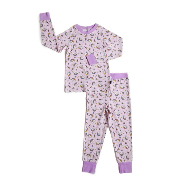Lola & Taylor Unicorn Girls PJ Set 2020