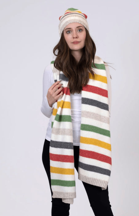 Lyla and Luxe Womens Multi Stripe Scarf 2021