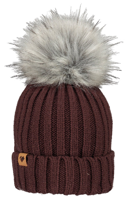 Obermeyer Denver Ladies Faux Fur Pom Hat