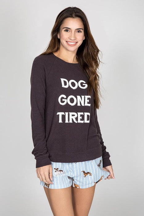 PJ Salvage Dog Gone Tired Ladies Crew 2019
