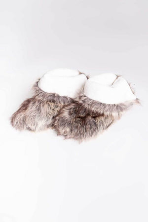 PJ Salvage Ladies Faux Fur Trim Slipper 2020
