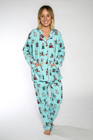 PJ Salvage Paw-Sents Ladies 2pce Flannel Set 2018
