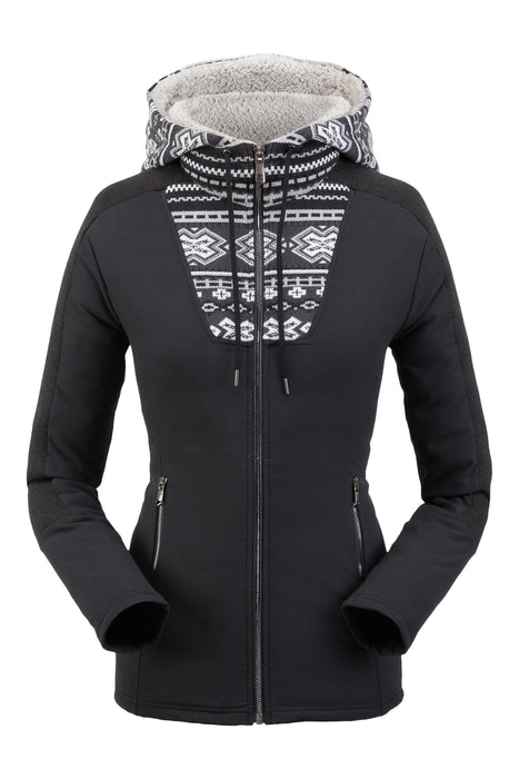 Spyder Soiree Ladies Hybrid Hoodie Fleece Jacket 2020